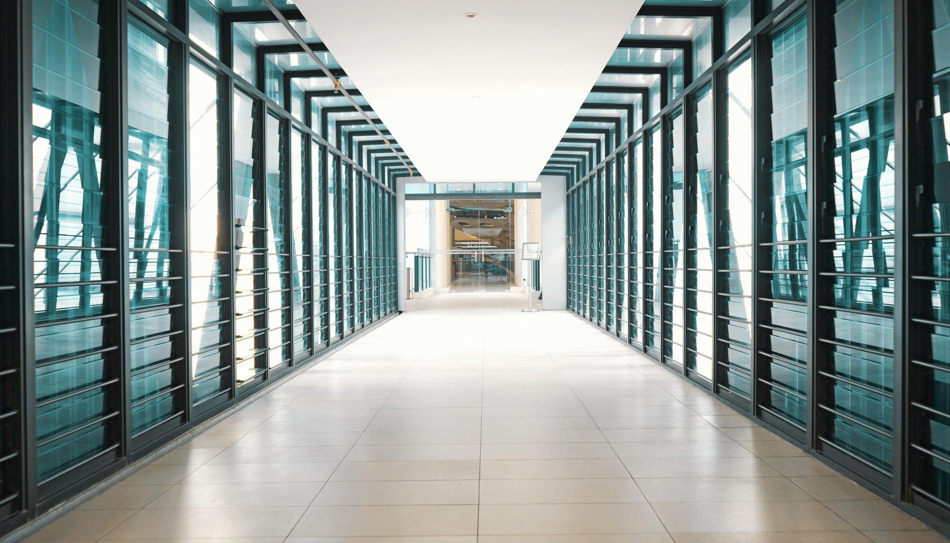 miestnosť so serverami pre webhosting