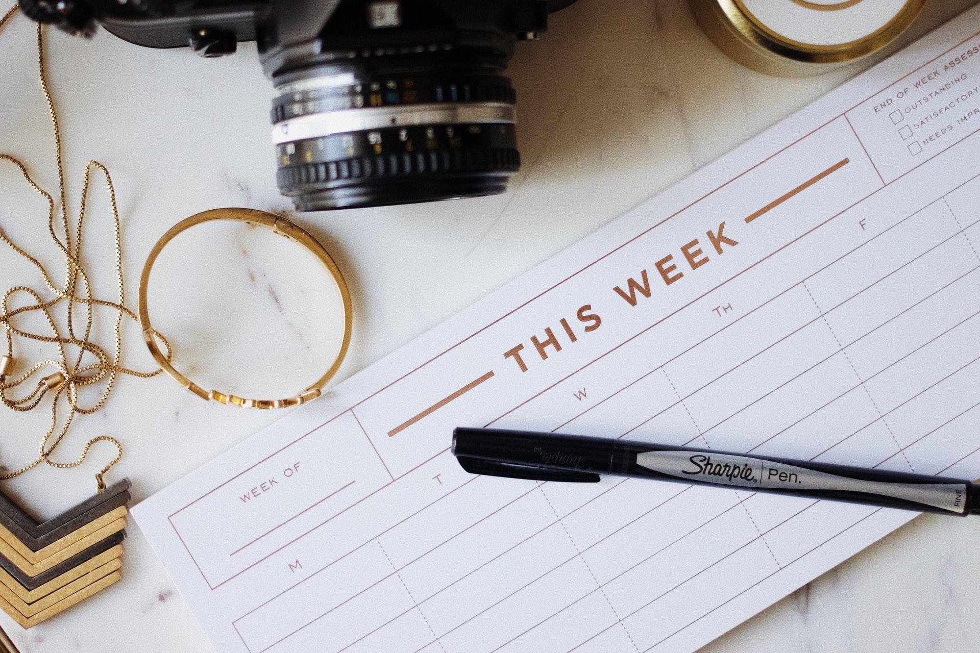týždenný kalendár