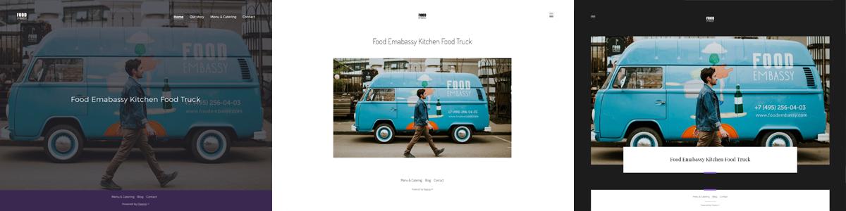 Food truck šablóny