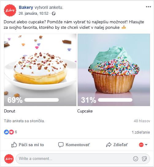 Anketa na FB